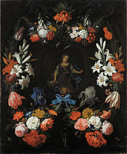 Abraham Mignon - Garland of Flowers - Google Art Project