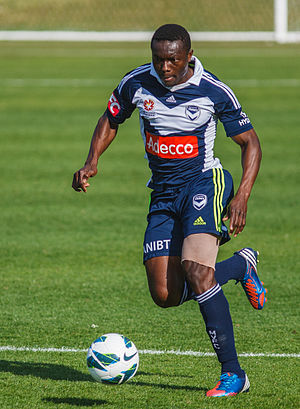 Adama Traoré (Ivorian footballer) - Adama Traoré playing for Melbourne Victory in 2012