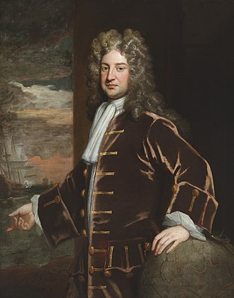 George Delaval - Admiral George Delaval by Sir Godfrey Kneller. Collection of Seaton Delaval Hall.