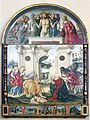 Adoration by the Shepherds by Francesco di Giorgio; Lunette by Matteo di Giovanni; Predella by Bernardino Fungai - Siena 2016.jpg