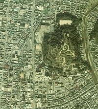 Aerial photo of Tsuyama Cstl 1976.jpg