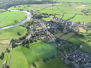 Ribchester - Image: Aerial view of Ribchester