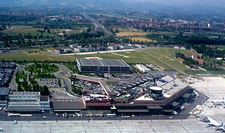 international airport serving Bologna, Italy