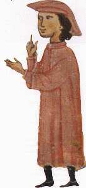 Aimeric de Peguilhan - Aimeric de Peguilhan, from a 13th-century chansonnier now in the Bibliothèque nationale de France