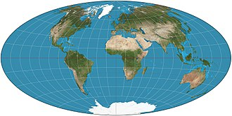 Aitoff projection - An Aitoff projection of the world