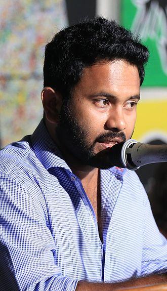 Aju Varghese - Image: Aju Varghese inaugural speech SARGAM SJCET