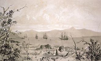 Banks Peninsula - French ships in Akaroa in the early 19th century