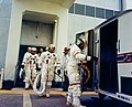 Al Shepard leads Ed Mitchell and Stu Roosa into the transfer van Ap14-KSC-71PC-24HR.jpg