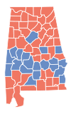 Alabama Gubernatorial Election Results by County, 2010.svg