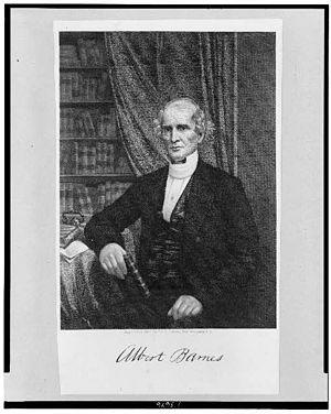 Albert Barnes (theologian) - Portrait of Albert Barnes (engraving by George Edward Perine).