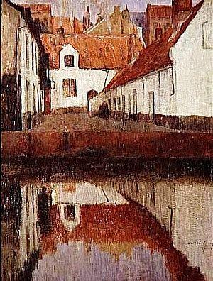 Albert Baertsoen - A Small Courtyard in Flanders (date unknown)