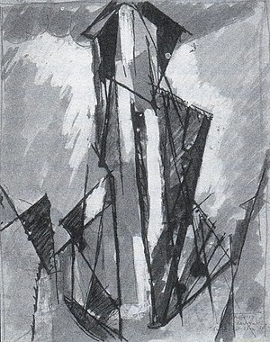 Flatiron Building - Sur le Flatiron, Albert Gleizes, gouache and ink (1916)