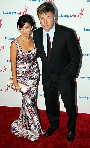 English: Alec Baldwin and Hilaria Thomas at th...