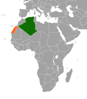 Algeria–Sahrawi Arab Democratic Republic relations - Image: Algeria RASD Locator