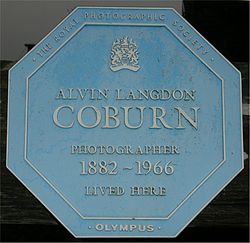 Alvin coburn blue plaque