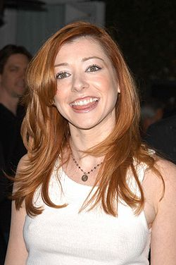 Alyson Hannigan, l'actrice interprétant Willow, en avril 2003.