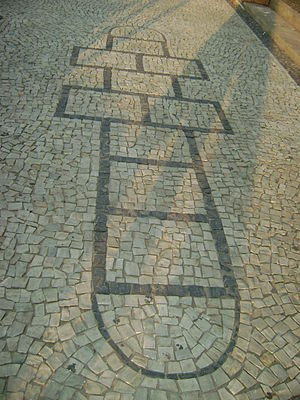 Hopscotch - A variation in the entrance of CEFET-MG, Belo Horizonte, Brazil.