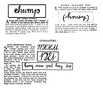 Ambigrams Chump, honey, M. H. Hill, Bet, and five more words - Strand Magazine 1908.jpg