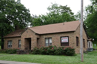 National Register of Historic Places listings in Cherokee County, Oklahoma - Image: American Legion Hut, Tahlequah, OK