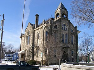 National Register of Historic Places listings in Lorain County, Ohio - Image: Amherst Ohio Town Hal 28