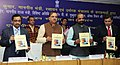 Ananthkumar releasing the 'NPPA Compendium-2015', in New Delhi on March 12 2015. The Minister of State for Chemicals & Fertilizers, Shri Hansraj Gangaram Ahir is also seen.jpg
