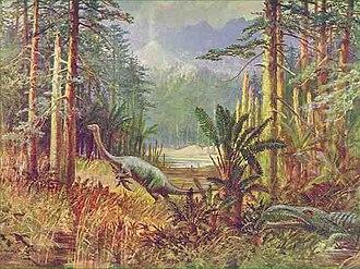 Anchisaurus - Restoration by Lancelot Speed from 1905