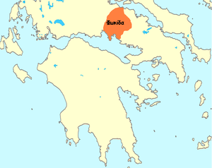Phocis (ancient region) - Map showing location of ancient Phocis