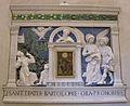 Andrea della robbia (attr.) dossale d'altare con ciborio, san francvesco che riceve le stigmate, san bartolomeo, arcangelo raffaele e tobiolo.JPG