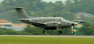 Beechcraft Super King Air - B200T variant operated by Royal Malaysian Air Force as a maritime patrol aircraft