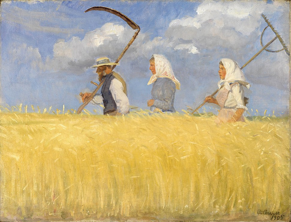 Anna Ancher - Harvesters - Google Art Project