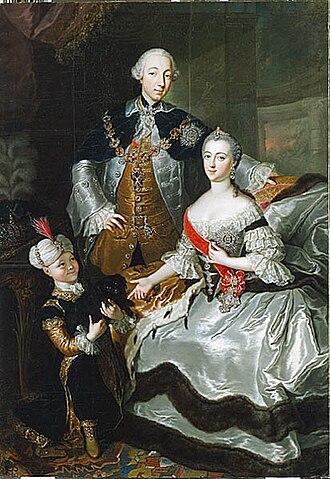 Петр III с Екатериной II
