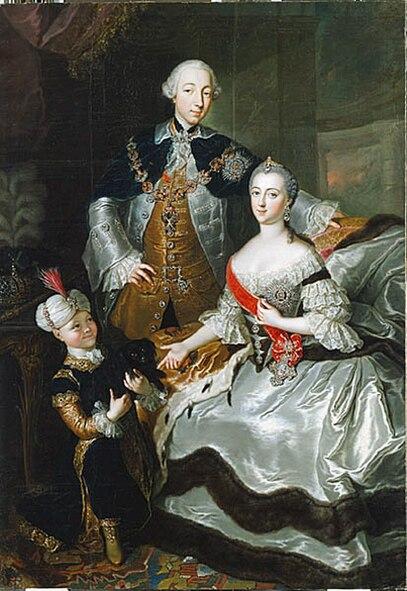 Ficheiro:Anna Rosina de Gasc, Le grand-duc Pierre Fiodorovitch, la grande-duchesse Catherine Alexeïevna et un page (1756).jpg