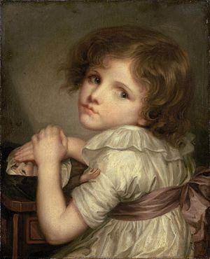 Anna-Geneviève Greuze - Child With a Doll, Anna-Geneviève Greuze