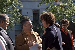 Anne Lagace Delson and Daniel Breton talk.jpg