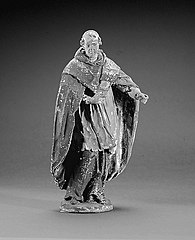 Monk with rochet and cloak