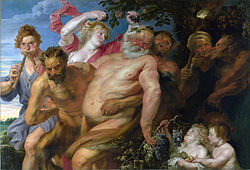 Anthony van Dyck: Drunken Silenus supported by Satyrs