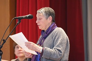 Ulizkaja auf einem Antikriegskongress in Moskau, März 2014