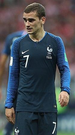 c266673458 Griezmann atuando pela Seleção Francesa na Copa do Mundo de 2018.