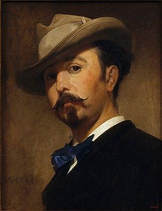 Joaquim Vayreda - Joaquim Vayreda; portrait by Antoni Caba (1870)