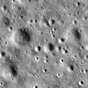 Oceanus Procellarum - Image of Apollo 12 landing site (center) used in mission planning (1.75 x 1.75 km).