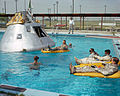 Apollo 1 crew during water egress training, June 1966.jpg