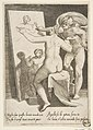 Apollo standing a beside a woman representing an allegory of painting, from 'The Loves of the Gods' MET DP812674.jpg