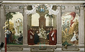 Biagio Biagetti - Apotheosis of St Pius X, painted for the Duomo of Treviso