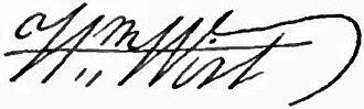 William Wirt (Attorney General) - Image: Appletons' Wirt William signature