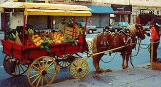 Arabber - Arabbers selling produce from horse-drawn carts, Union Square, Baltimore, 2011