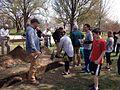 Archaeologist Jason Shellenhamer with tour group, Patterson Park (16149421730).jpg