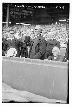 Mannix - Image: Archbishop Daniel Mannix (Polo Grounds, New York City ca. 1920)