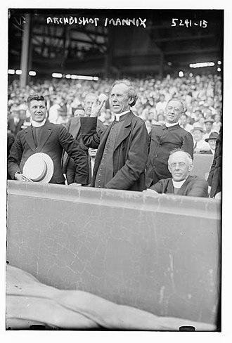 Mannix - Image: Archbishop Daniel Mannix (Polo Grounds, New York City ca. 1920)