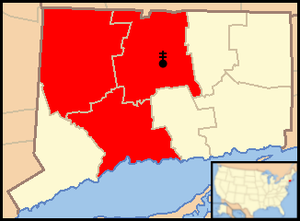 Roman Catholic Archdiocese of Hartford - Image: Archdiocese of Hartford map 1