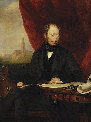 Archibald Simpson - Memorial portrait of Archibald Simpson by James Giles (1848)